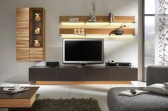 Awesome White Brown Wood Glass Cool Design Contemporary Tv Wall Under Storage Wall Racks Cabinet Grey Sofa Table Wall Glass Furniture At Livingroom With Modular Wall Units Plus Television Stands, Wonderful Design Modern Wall Units For Tv Ideas: Furniture, Interior, Living Room