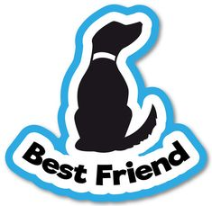"Items similar to Decal vinyl Sticker ""Best Friend"". Car, window, bumper, laptop and bumper custom decoration. Digital Print on Etsy Digital Prints, Dog Cat, Best Friends, Decals, Laptop, Window, Stickers, Unique Jewelry, Handmade Gifts"