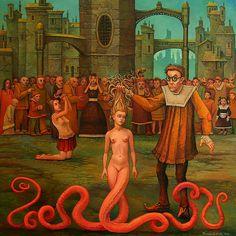 The Strange Surreal Art of Michael Hutter Michael Hutter is a German painter, a visual artist in the classical meaning of the word. Bizarre Art, Weird Art, Arte Horror, Pop Surrealism, Modern Surrealism, Fantastic Art, Outsider Art, Surreal Art, Erotic Art