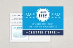 Public Self Storage Postcard Template