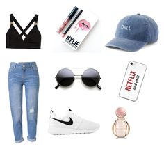 """😉😉😉"" by nelly-cassie on Polyvore featuring beauty, WithChic, NIKE, SO, Kylie Cosmetics and Bulgari"