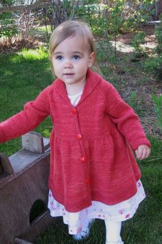 1010 Girl's Victorian Coat (Top Down, 18 months - age 10) - $7.00
