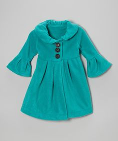Teal Swing Coat ##zulily #ad *cute