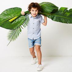 Camisa de mangas curtas, para menino