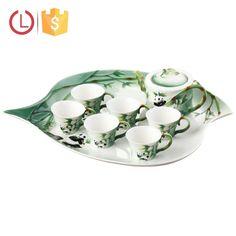 Porcelain 8pcs enamel Design Panda bamboo tea set for home, View dinnerware set, YOU LAI FU Product Details from Shenzhen Youlaifu Household Company Limted on Alibaba.com