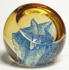 Caithness Caithness  - Wee Star, Blue - Paperweight at Replacements, Ltd  $15
