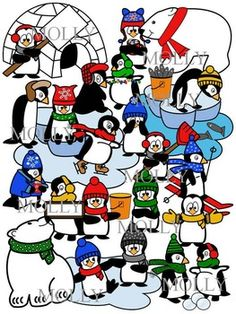 Penguin+clip+art+with+20+penguin+personalities+in+color+and+16+in+black+and+white.+  This+penguin+clip+art+will+make+a+great+addition+to+your+winter+worksheets+and+activities.  In+addition+to+penguins,+this+file+also+includes+the+following+in+both+color+and+black+and+white:  *+polar+bear+clipart+(2) *+floating+ice *+water *+igloo+clipart *+bucket+of+fish *+empty+bucket *+individual+fish *+snowballs  File+may+be+used+for+both+personal+and+commercial+TPT+use.