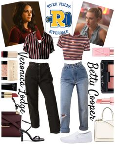 Discover outfit ideas for Betty vs. Veronica made with the shoplook outfit maker. Fashion Tv, Teen Fashion Outfits, Outfits For Teens, Girl Outfits, Party Outfits, Outfits Riverdale, Riverdale Fashion, Betty Cooper Outfits, Betty Cooper Style