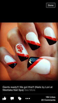 Sf giants nail art httpsfacebookshorthaircutstyles sf giants nails prinsesfo Images