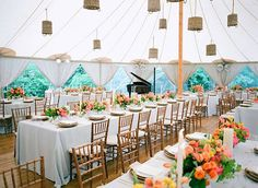 A Vibrant Backyard Wedding in Georgetown, Inspired by a Hot Air Balloon Proposal