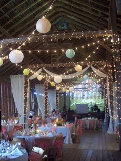 My cousin's wedding reception was held in a neat old barn in Iowa.  I got to help decorate, it was a hot but fun job. I think it turned out gorgeous.