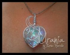 Crystal Wire Wrap Pendant by kaberaldo