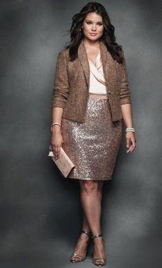 Stylish Plus-Size Fashion Ideas – Designer Fashion Tips Komplette Outfits, Blazer Outfits, Curvy Outfits, Plus Size Outfits, Blazer Fashion, Skirt Outfits, Curvy Fashion, Look Fashion, Plus Fashion