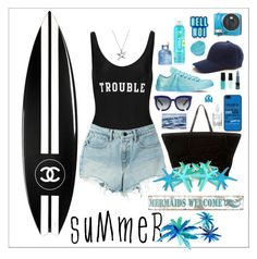 """""""SUMMER 2016"""" by itstheduda ❤ liked on Polyvore featuring ADRIANA DEGREAS, T By Alexander Wang, Chanel, Pottery Barn, Grey Ant, Herbivore, Bling Jewelry, Converse, Dolce&Gabbana and Anya Hindmarch"""