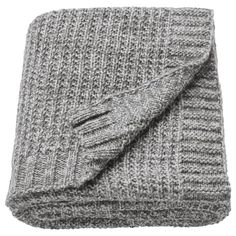IKEA - DUNÄNG, Throw, grey, Wool is stain-repellent, hard-wearing and provides good insulation. Throw Blankets, Ikea Plaid, Plaid Gris, Best Insulation, Isolation, Shopping, Ideas, Bedding, Home