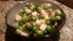 Apple Pecan Brussels Sprouts