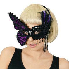 【あす楽】ルービーズ(rubie's)ドミノマスク(バタフライ)[95122DominoMask-Butterfly]♪ハロウィン仮装衣装変装グッズコスプレベネチアンマスクヴェネチアンドミノマスクアイマスク舞踏会マスク