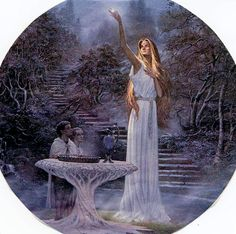 The Mirror of Galadriel - Ted Nasmith