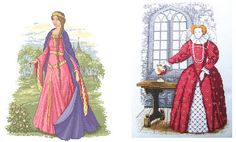 Enchanted Serenity of Period Films: Cross-stitch Designs with Period Costumes