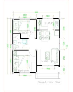 Simple House Plans with 2 bedrooms Shed Roof – House Plans – Zuhdil Herry… – Indian Living Rooms Unique House Plans, Beautiful House Plans, Best House Plans, House Floor Plans, The Plan, How To Plan, House Plans With Pictures, 2 Bedroom House Plans, Bathroom Floor Plans