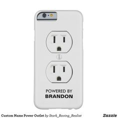 Custom Name Power Outlet Case-Mate iPhone Case