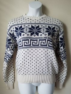 GAP Womens Longsleeve Holiday Knit Sweater - size S - Ivory 100% cotton | Clothing, Shoes & Accessories, Women's Clothing, Sweaters | eBay!