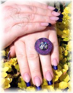 Acrylmodellage mit Gellack und passendem Deussl Ring
