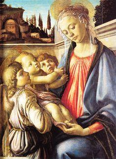 Botticelli Sandro - Madonna con Bambino e angeli -  c. 1470 - Museo Nazionale di Capodimonte, Napoli