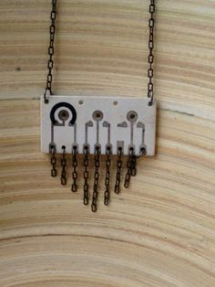 Upcycled Ceramic Circuit Board Necklace  by StruckBoutique on Etsy, $29.00