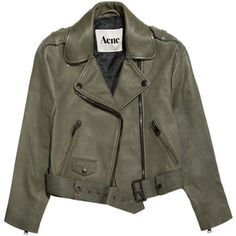 Acne Mape cropped lizard-embossed leather jacket