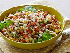 Mexican Brown Rice Salad.  I used quinoa instead of brown rice and added tons of cilantro.
