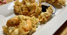 Tempura de crevettes et légumes super croustillants Beignets, Cauliflower, Shrimp, Meat, Vegetables, Cooking, Food, Tempura Vegetables, Shrimp Bake