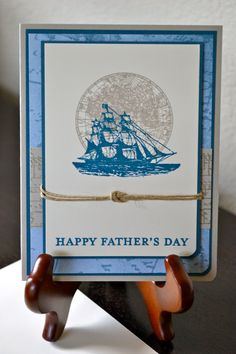 Nautical Father's Day Card2 Available by TheRoundedCorner on Etsy, $5.00