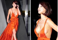 Oh In Hye 오인혜 from South Korea - Lenglui Grecian Goddess, Korean Women, Korean Lady, Cute Korean Girl, Red Carpet Dresses, Orange Dress, Pretty Woman, Gorgeous Women, Asian Beauty