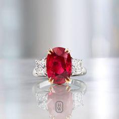 Harry Winston A vibrant 8.01-carat Ruby and Diamond Ring.