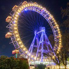 Riesenrad by Night Fun Fair, Ferris Wheels, Fair Grounds, Photography, Travel, Shop, Photos, Ferris Wheel, Light And Shadow