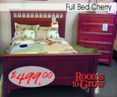 Full Bed Cherry  #roomstogrow_RI  #Closeout