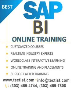 SAP BI Training and Placement:- best SAP Business Intelligence online training by real time experts. http://www.tectist.com/sap-bi-online-training.html #sapbitraining #sapbusinesstraining #sapbusinessintelligence