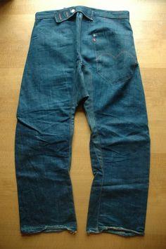engenereed Workwear Fashion, Denim Fashion, Vintage Jeans, Vintage Outfits, Rare Clothing, Japanese Denim, Denim Patchwork, Raw Denim, Work Wear