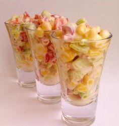 Летний хрустящий салат: vkusnyashkino Shot Glass, Glass Vase, Food And Drink, Tableware, Recipes, Dinnerware, Tablewares, Recipies, Ripped Recipes