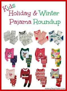 Holiday & Winter Pajama Roundup for the Kiddos - http://everydaycheer.com/2013/11/15/holiday-winter-pajama-roundup-for-the-kiddos/
