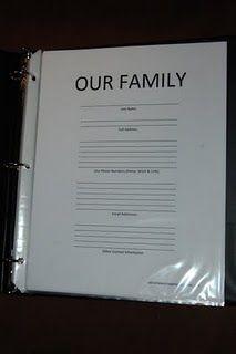 Family info binder