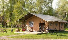 Lodgetent bij FarmCamps Den Branderhorst