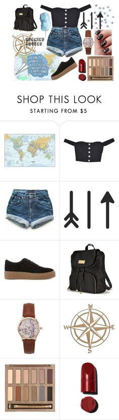 """Airport"" by galaxy-moon-stars ❤ liked on Polyvore featuring jcp, Levi's, Sharpie, Steve Madden, Plane, Victoria's Secret and Urban Decay"