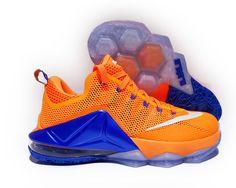 Nike K LBJ Lebron XII Low Kicks Orange Blue White 724557 838 Sz 14 NWB $179 | eBay