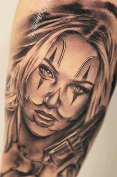 05ee55e58dba7 14 Best Tattoos images | Chicano tattoos, Female tattoos, Clowns