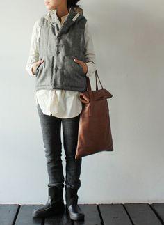 [FWK by ENGINEERED GARMENTS] Hooded Padded Vest - Wool Flannel