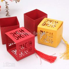 Wholesale cheap style quot online, paper - Find best 50pcs red / gold candy box chinese style xI paper gift jewelry dIY boxes wedding favors at discount prices from Chinese favor holders supplier on DHgate.com.