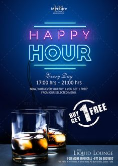 Happy Hour Happy Hour on Behance Food Menu Design, Pub Design, Flyer Design, Creative Poster Design, Creative Posters, Alcohol Humor, Funny Alcohol, Alcohol Quotes, Cocktail Photography