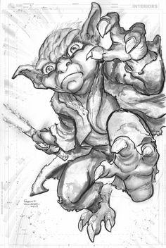 Yoda by Freddie Williams II